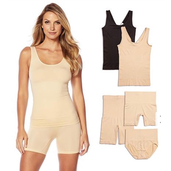 Nude-S//M NEW Yummie Tummie Tank With Reversible Neckline